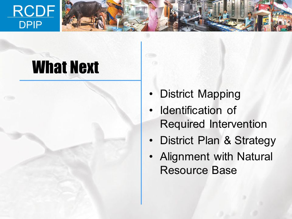 What Next RCDF District Mapping
