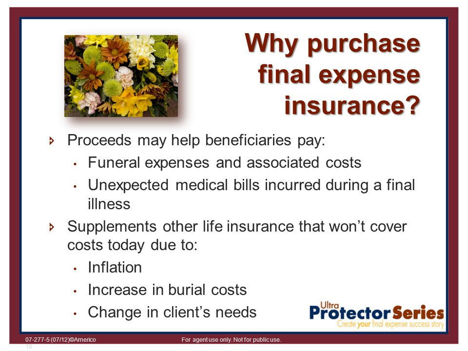 Why purchase final expense insurance