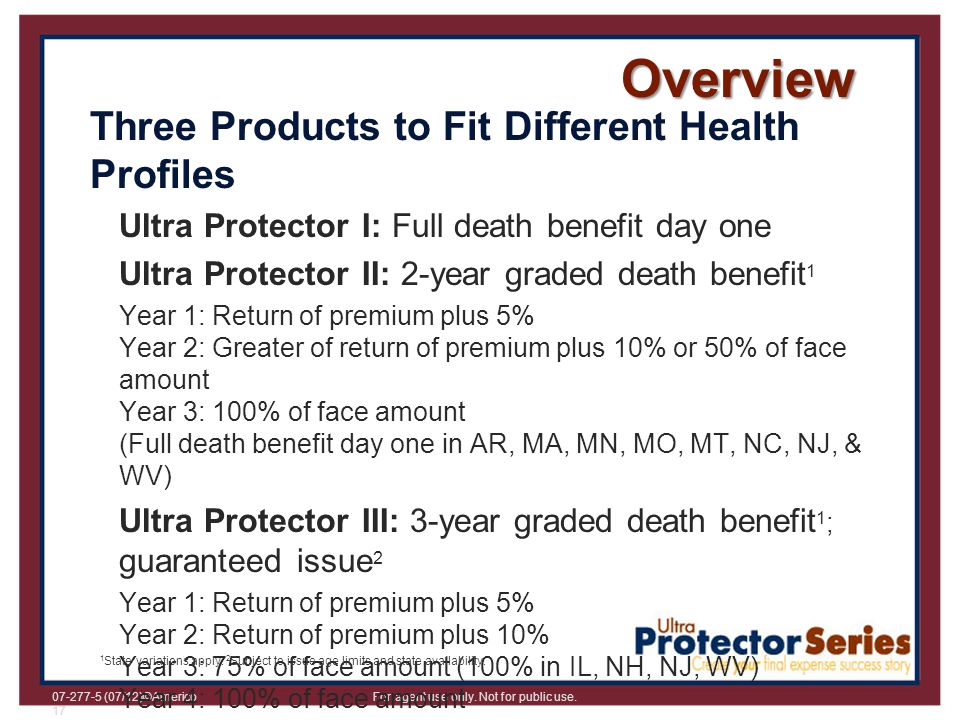 Overview Three Products to Fit Different Health Profiles