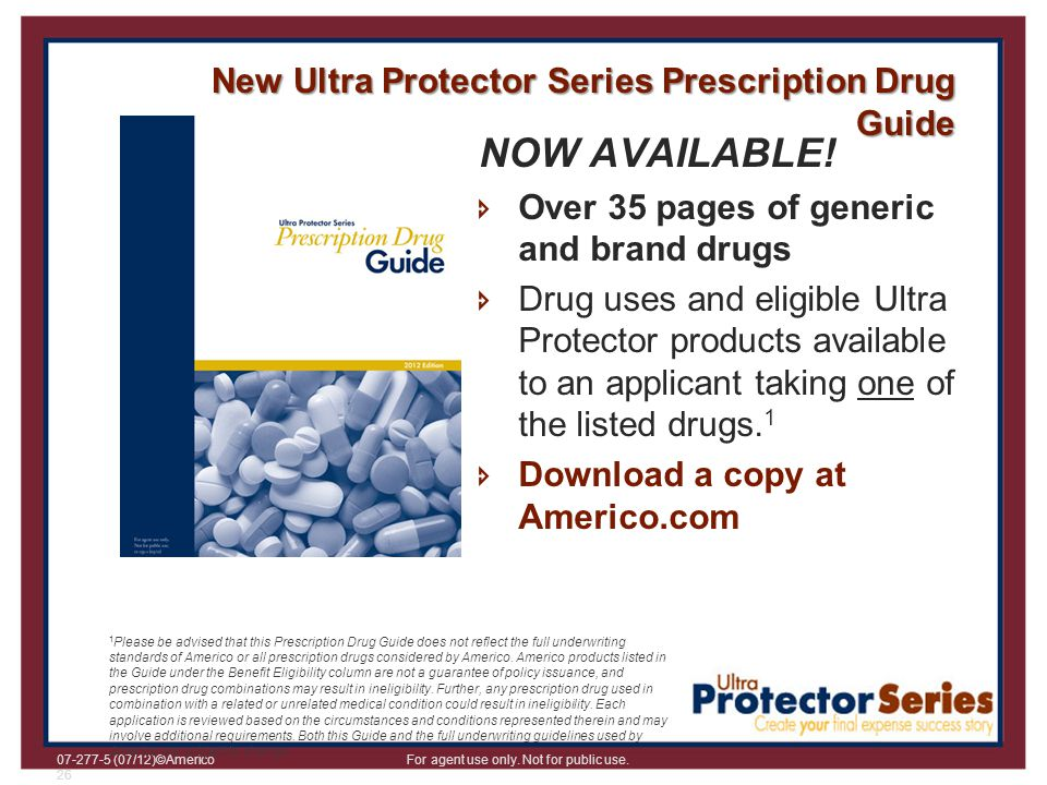 NOW AVAILABLE! New Ultra Protector Series Prescription Drug Guide