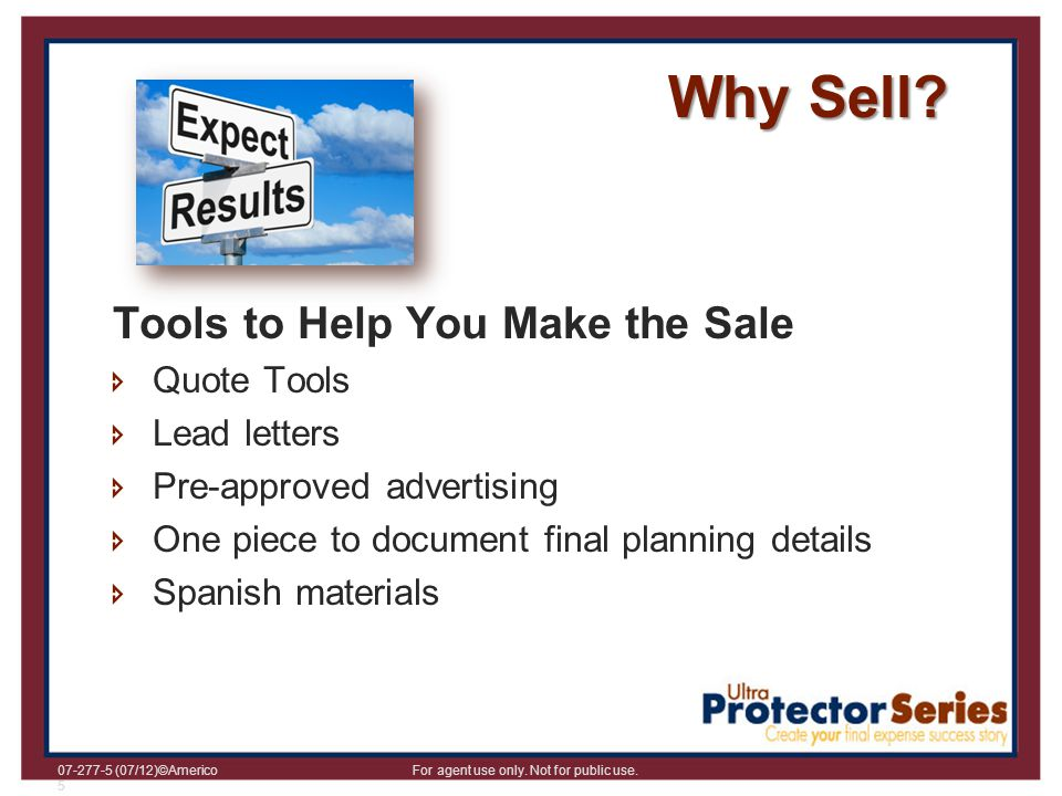Why Sell Tools to Help You Make the Sale Quote Tools Lead letters