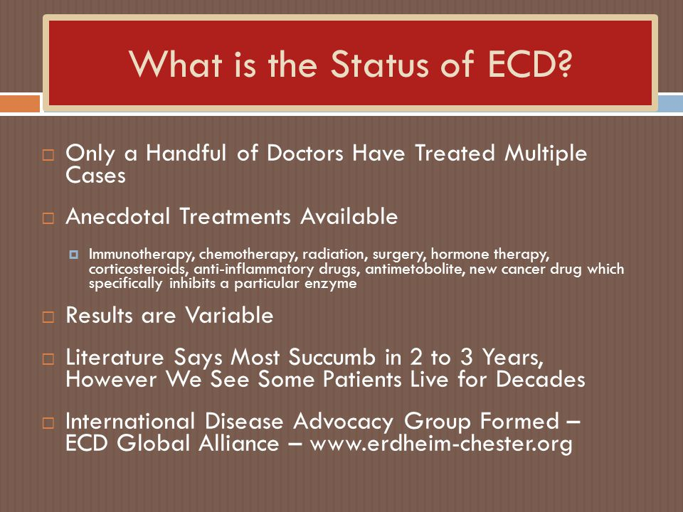 What is the Status of ECD