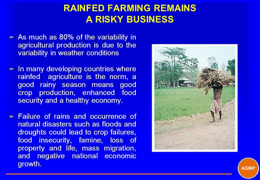 RAINFED FARMING REMAINS A RISKY BUSINESS