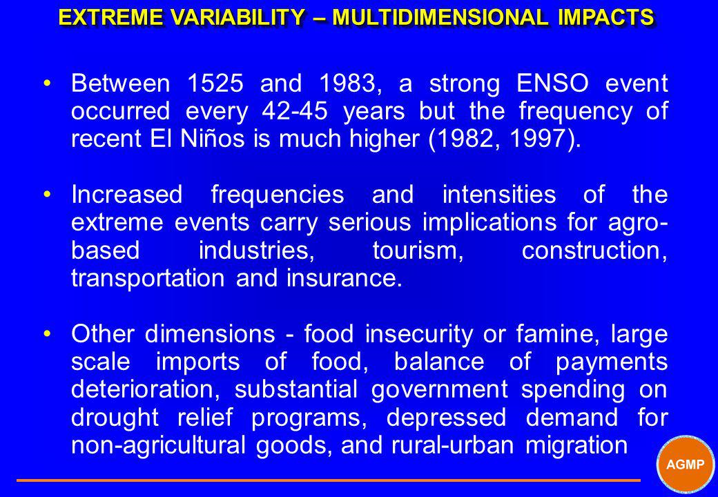 EXTREME VARIABILITY – MULTIDIMENSIONAL IMPACTS