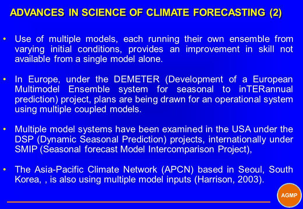 ADVANCES IN SCIENCE OF CLIMATE FORECASTING (2)