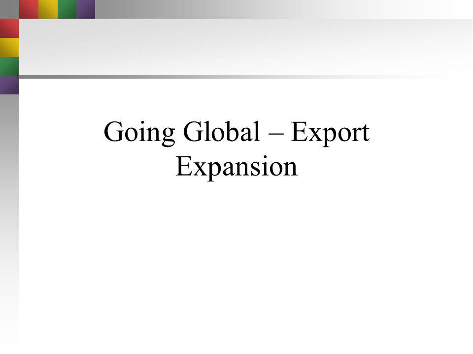 Going Global – Export Expansion