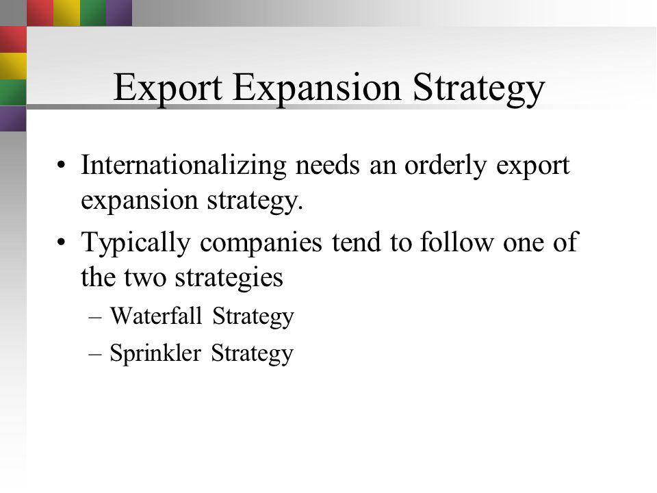 Export Expansion Strategy