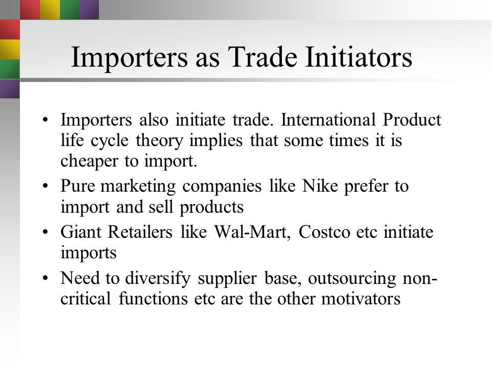 Importers as Trade Initiators
