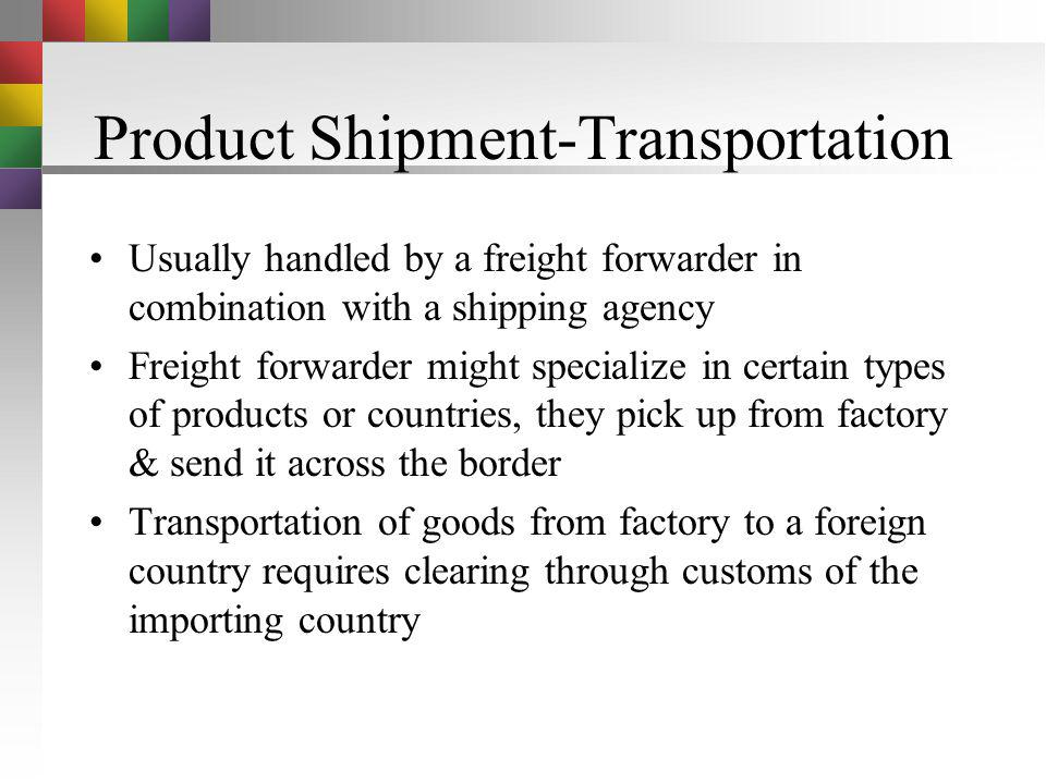 Product Shipment-Transportation