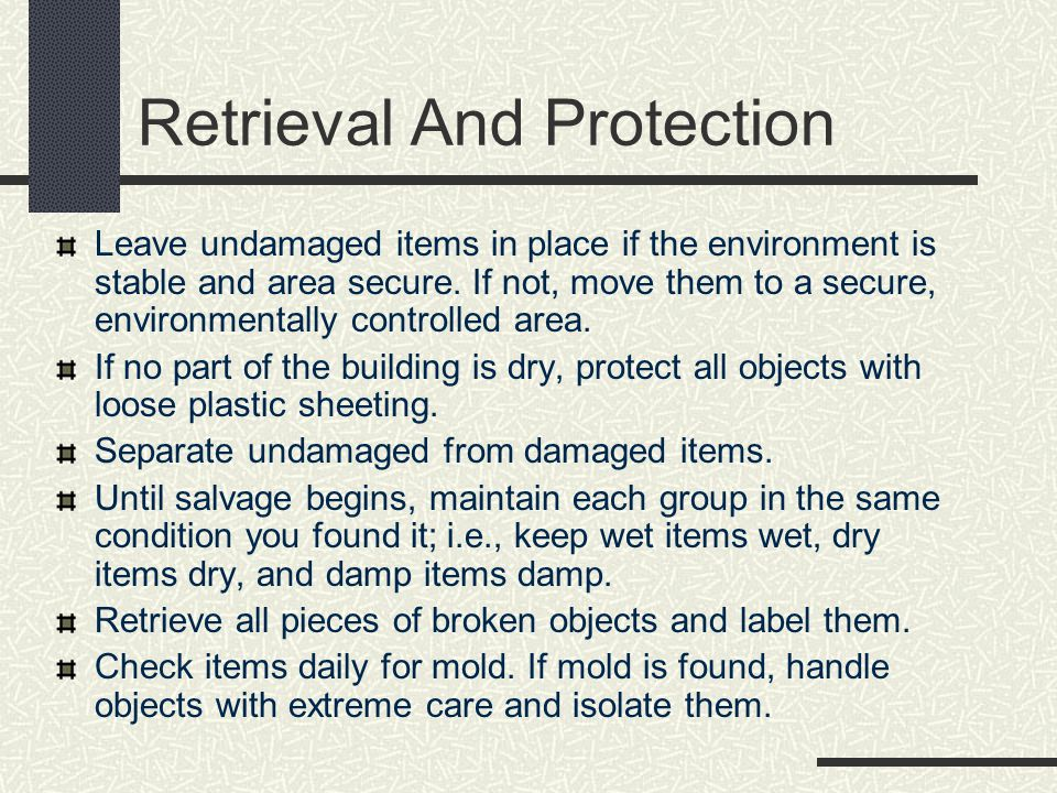 Retrieval And Protection