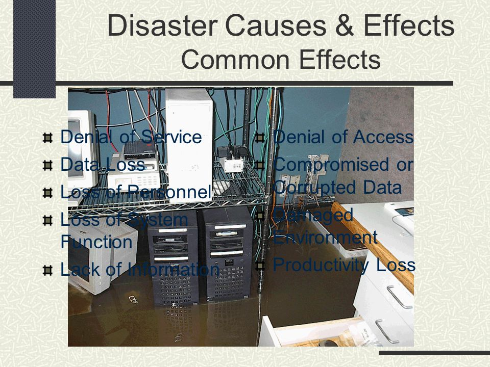 Disaster Causes & Effects Common Effects