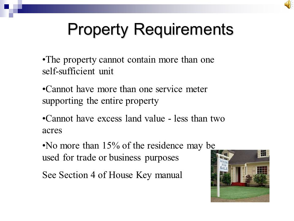 Property Requirements