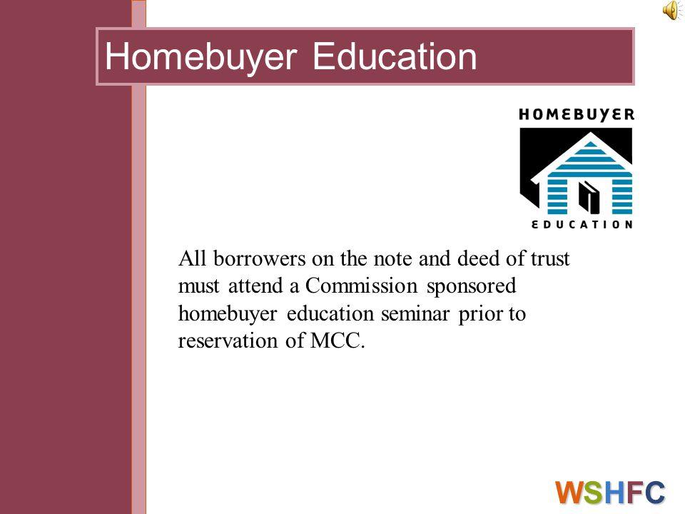Homebuyer Education WSHFC