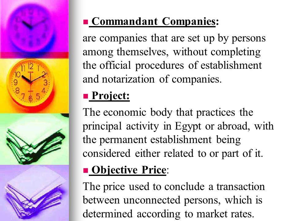 Commandant Companies: