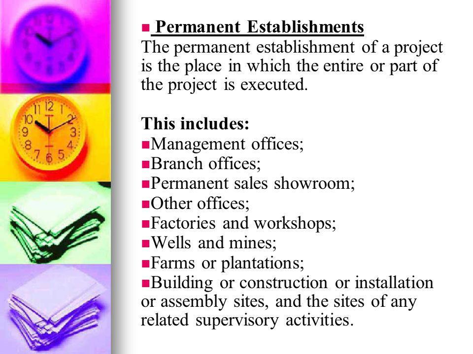 Permanent Establishments