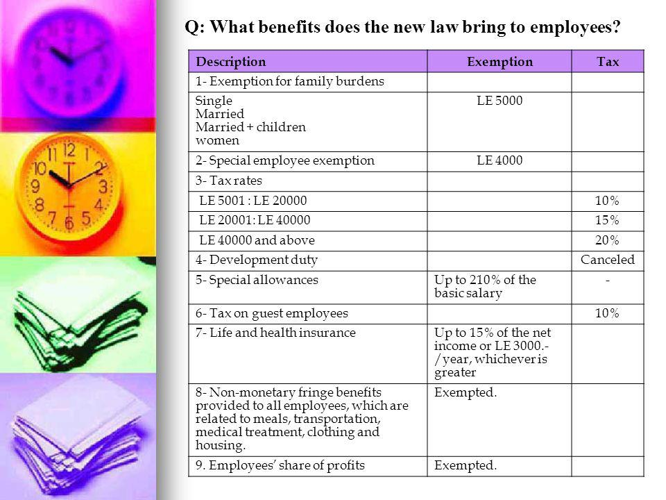 Q: What benefits does the new law bring to employees