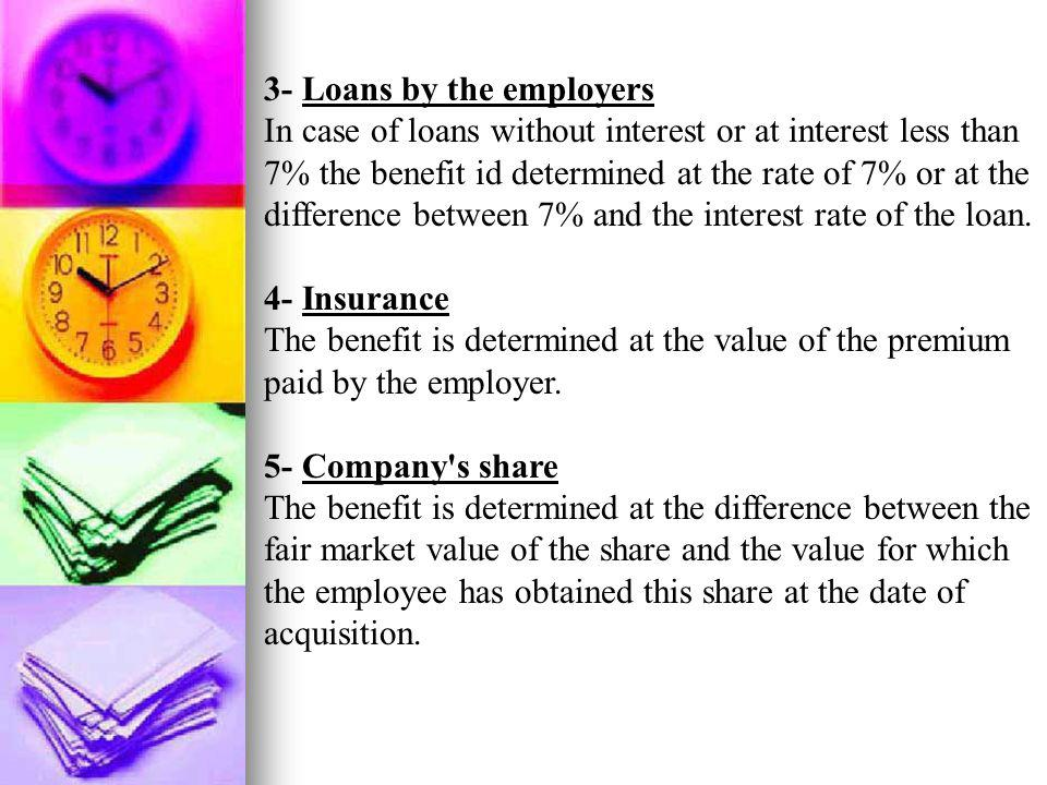 3- Loans by the employers