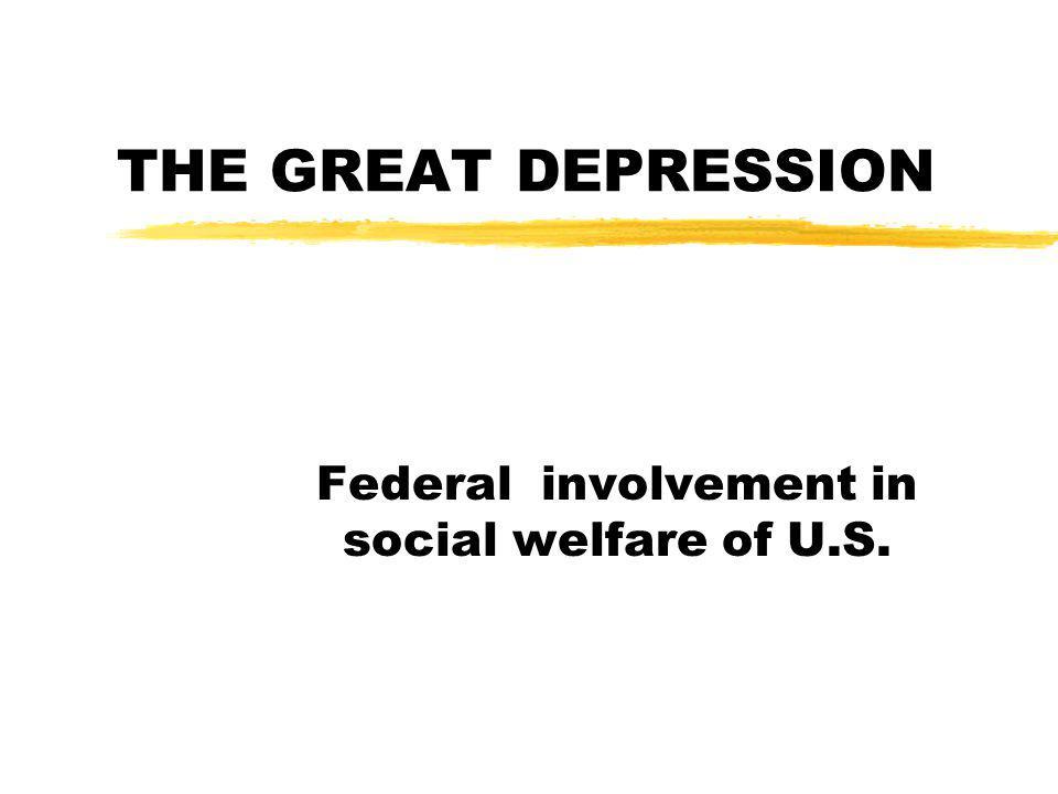 Federal involvement in social welfare of U.S.