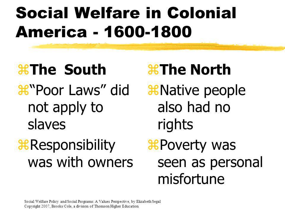 Social Welfare in Colonial America - 1600-1800