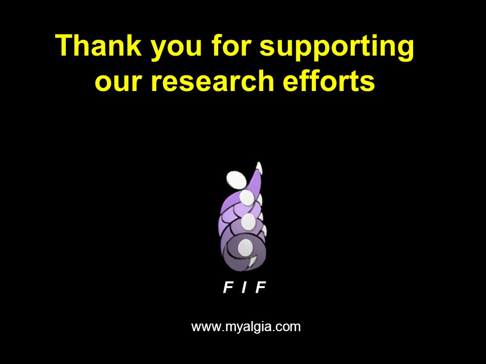 Thank you for supporting our research efforts