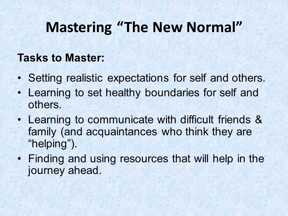 Mastering The New Normal