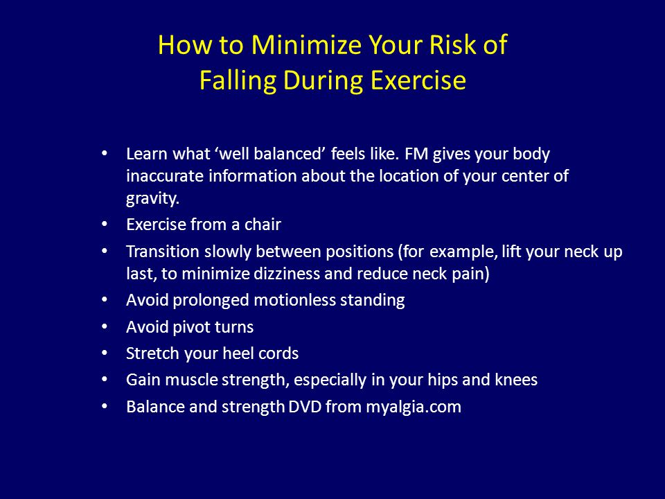 How to Minimize Your Risk of Falling During Exercise