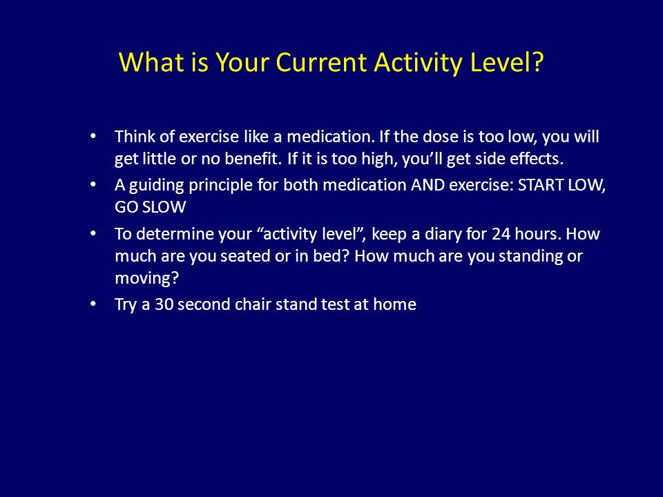 What is Your Current Activity Level