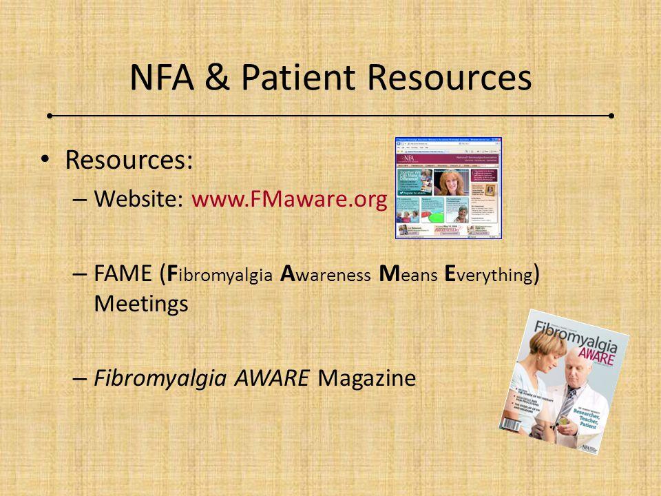 NFA & Patient Resources