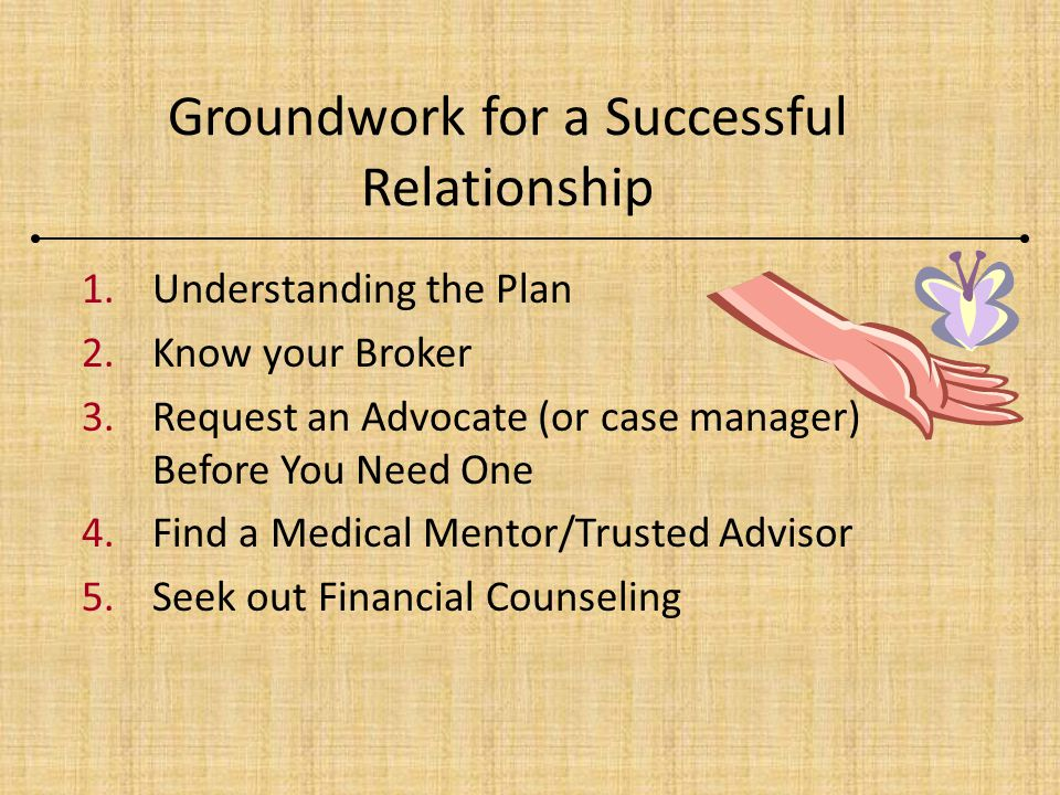 Groundwork for a Successful Relationship