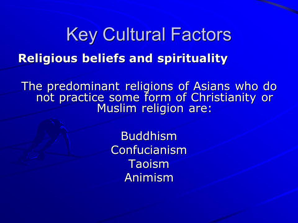factors of the asian christians Journal of counseling & development fall 2007 volume 85 411 avoidance of counseling: psychological factors vogel & wester, 2003.