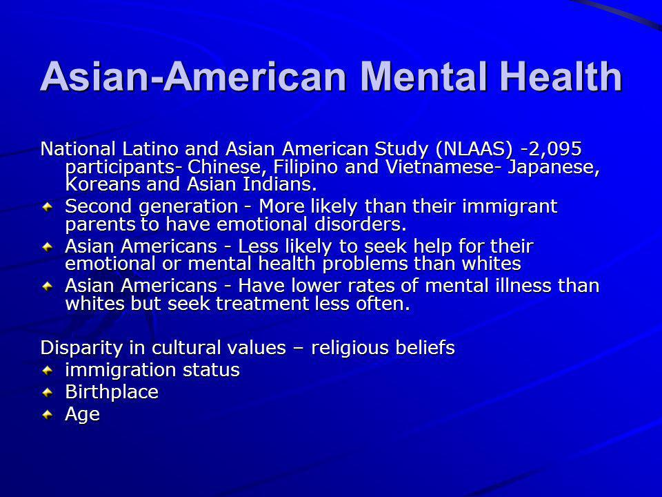 mental illness disclosure in chinese immigrant Key words: access, chinese immigrants, severe mental illness, psychiatric service, service use the canadian journal of psychiatry, vol 55, no 1, january 2010 35.