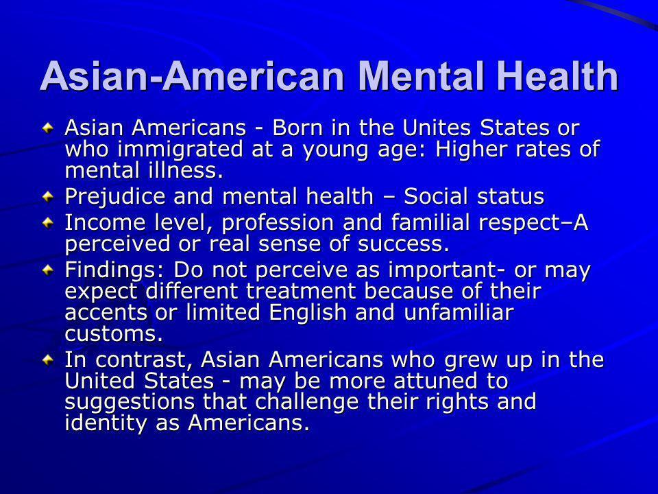Asian-American Mental Health