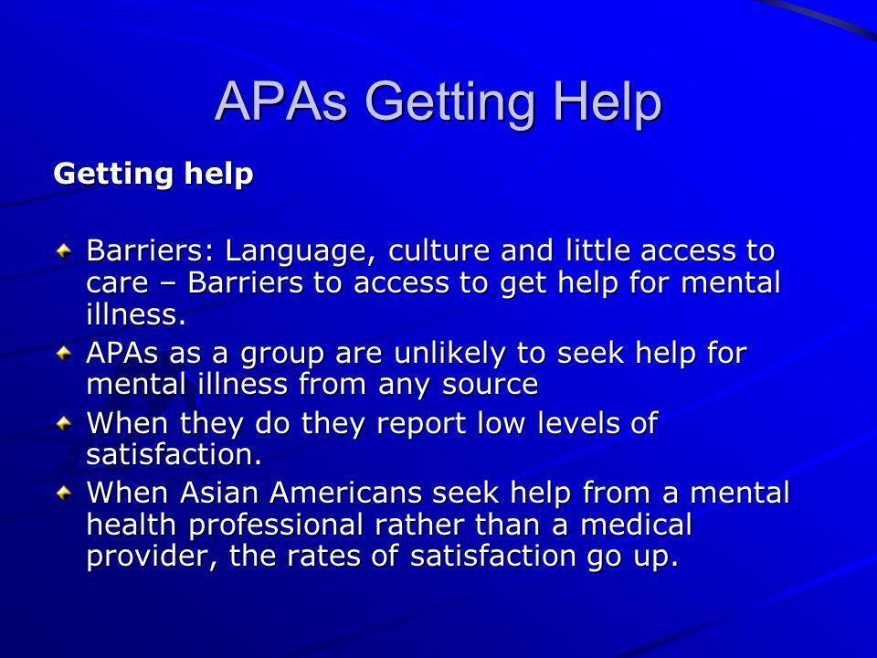 APAs Getting Help Getting help