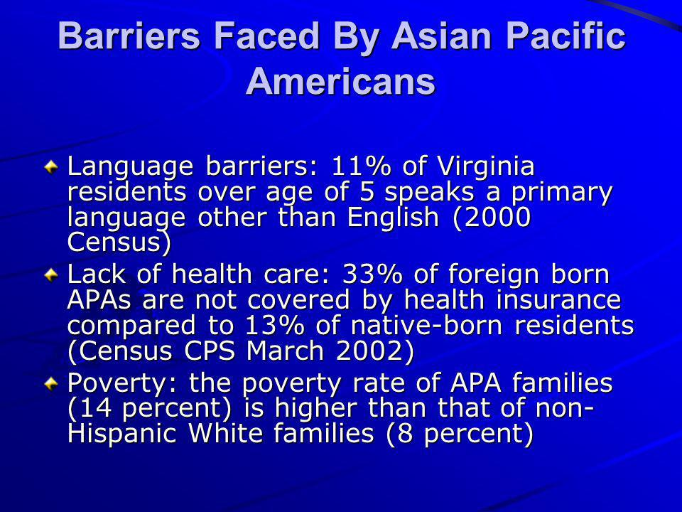 Barriers Faced By Asian Pacific Americans