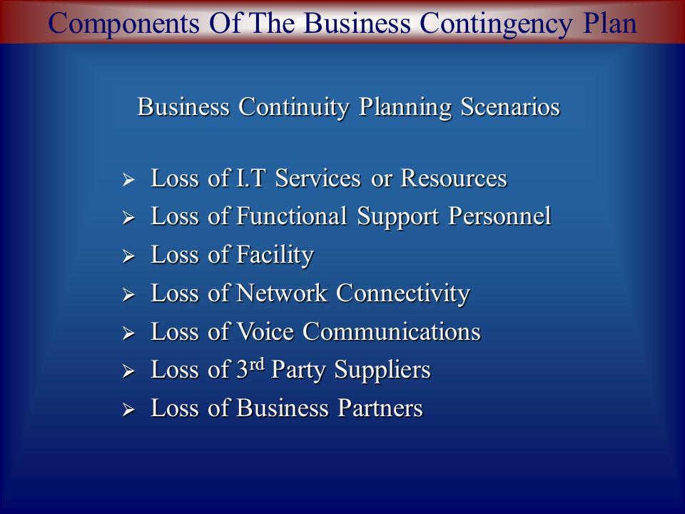 Business Continuity Planning Scenarios