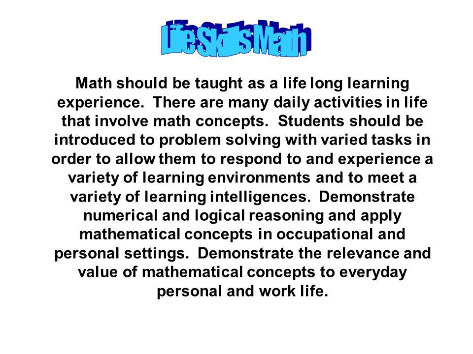 Life Skills Math