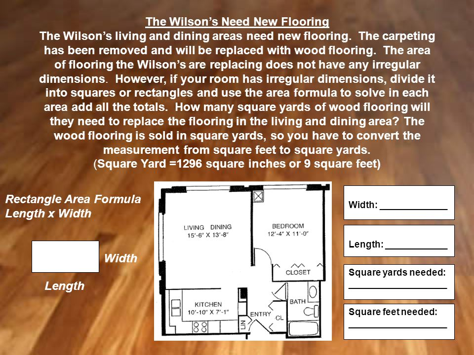 The Wilson's Need New Flooring