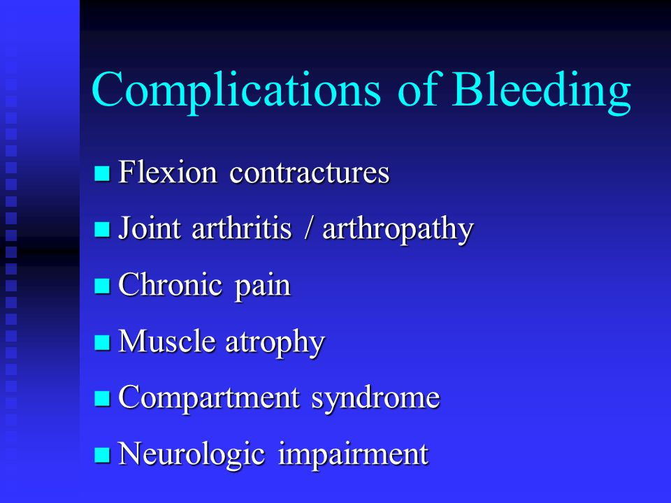 Complications of Bleeding