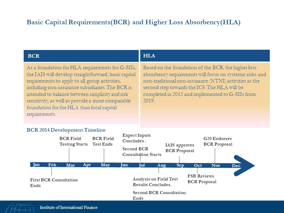 Basic Capital Requirements(BCR) and Higher Loss Absorbency(HLA)