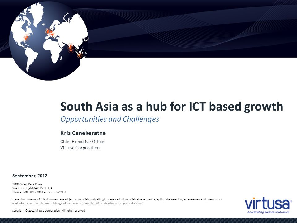 South Asia as a hub for ICT based growth