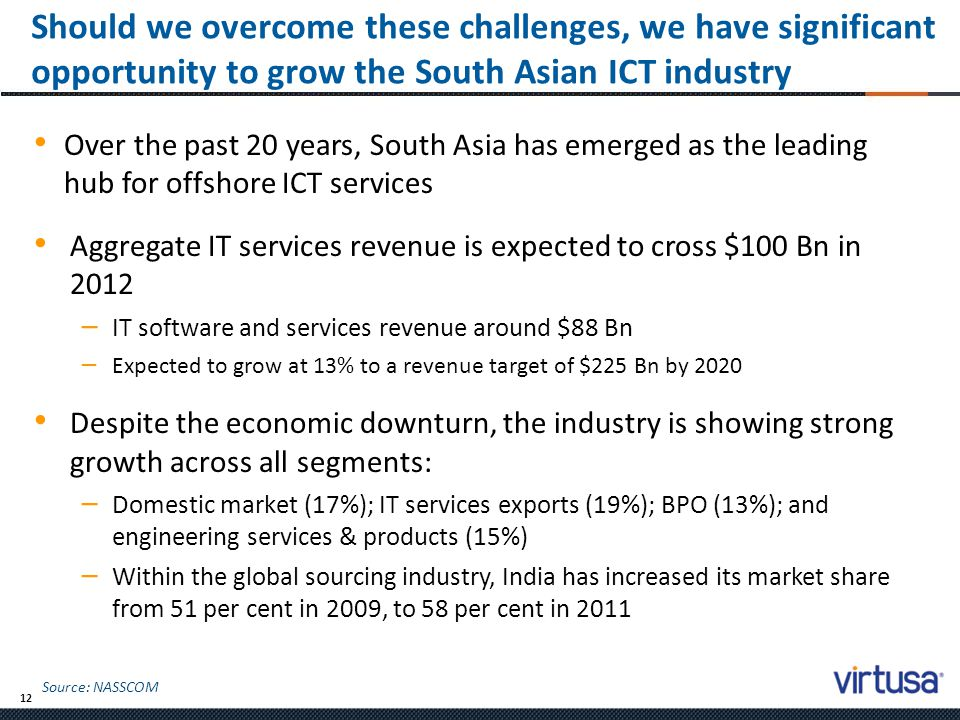 Should we overcome these challenges, we have significant opportunity to grow the South Asian ICT industry