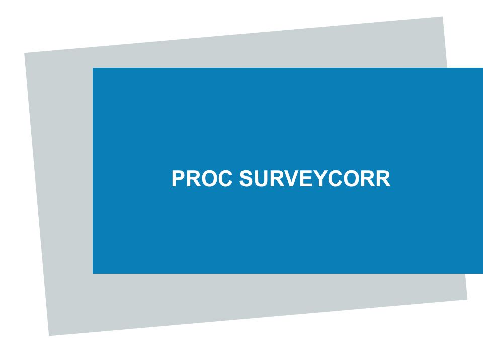 PROC SURVEYCORR