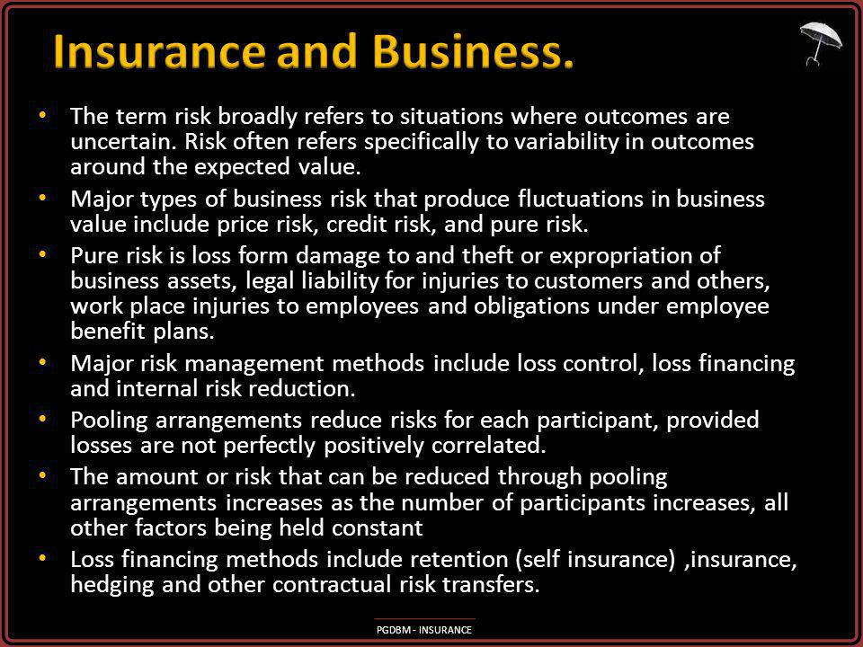 Insurance and Business.