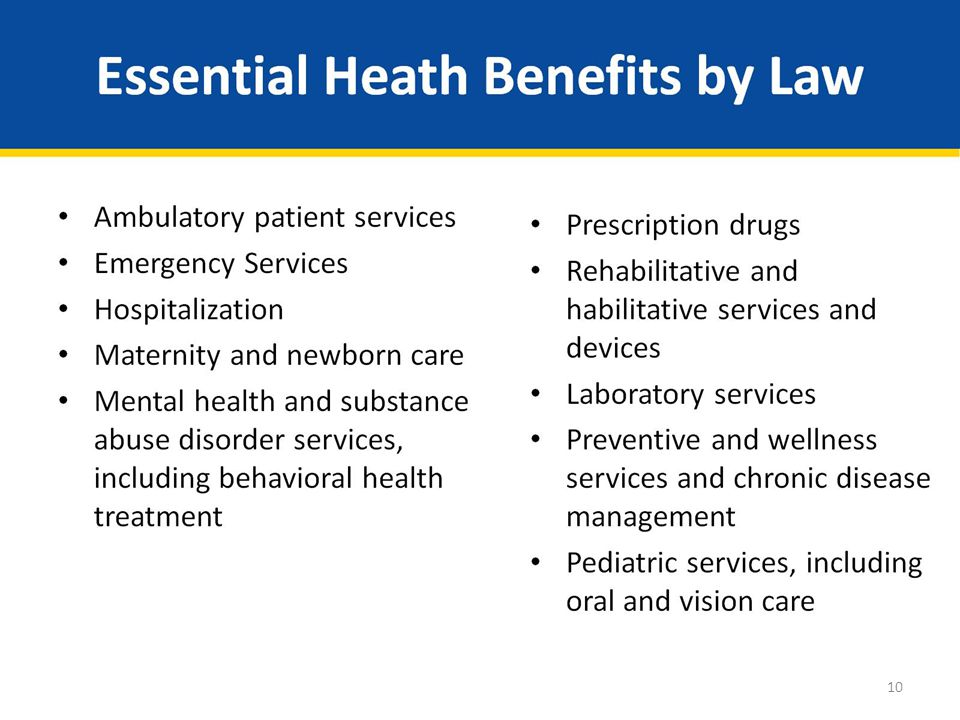 Essential Heath Benefits by Law