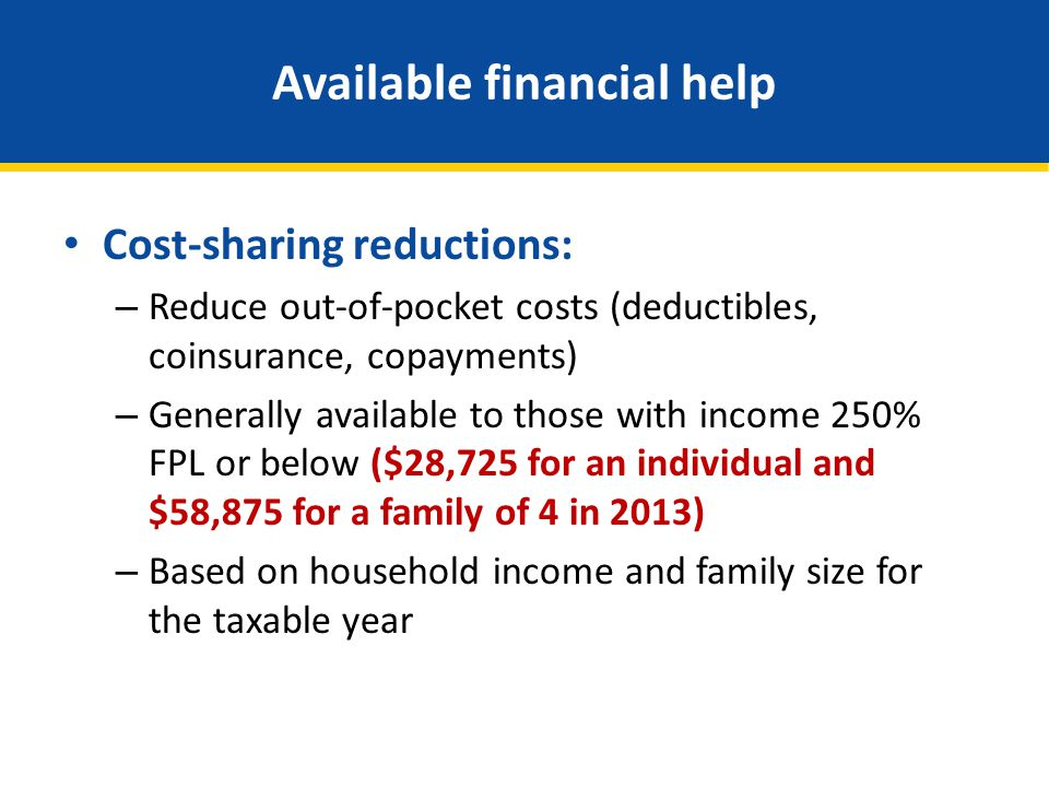 Available financial help