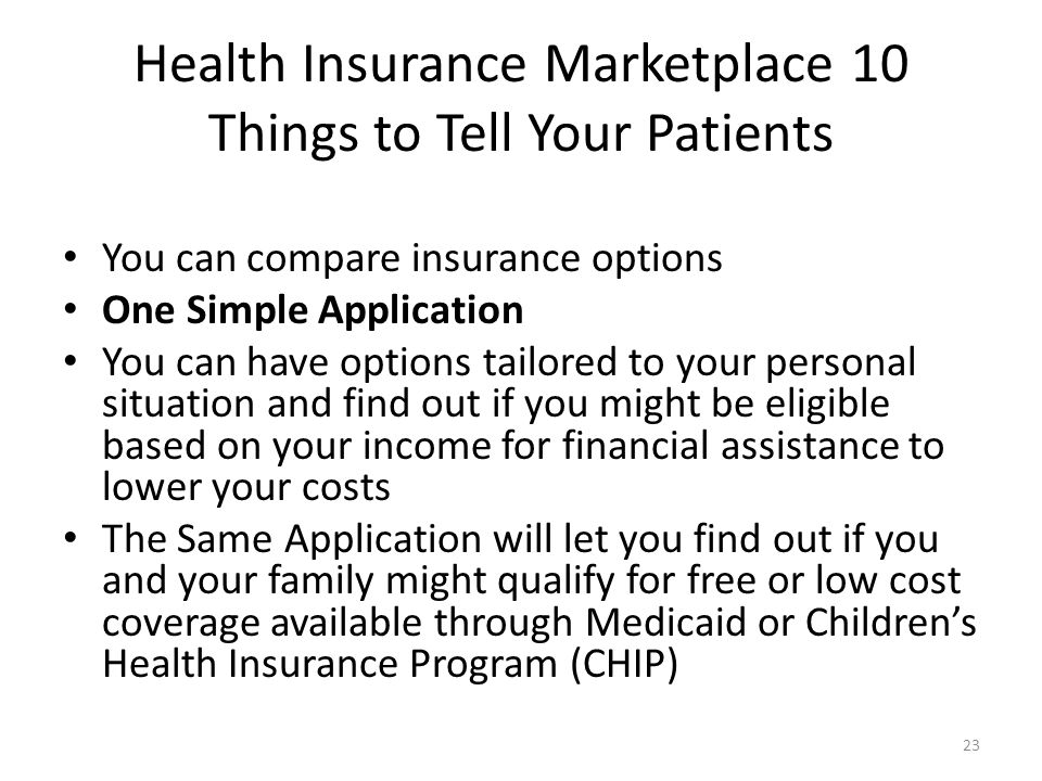 Health Insurance Marketplace 10 Things to Tell Your Patients