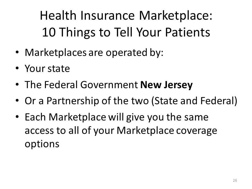 Health Insurance Marketplace: 10 Things to Tell Your Patients
