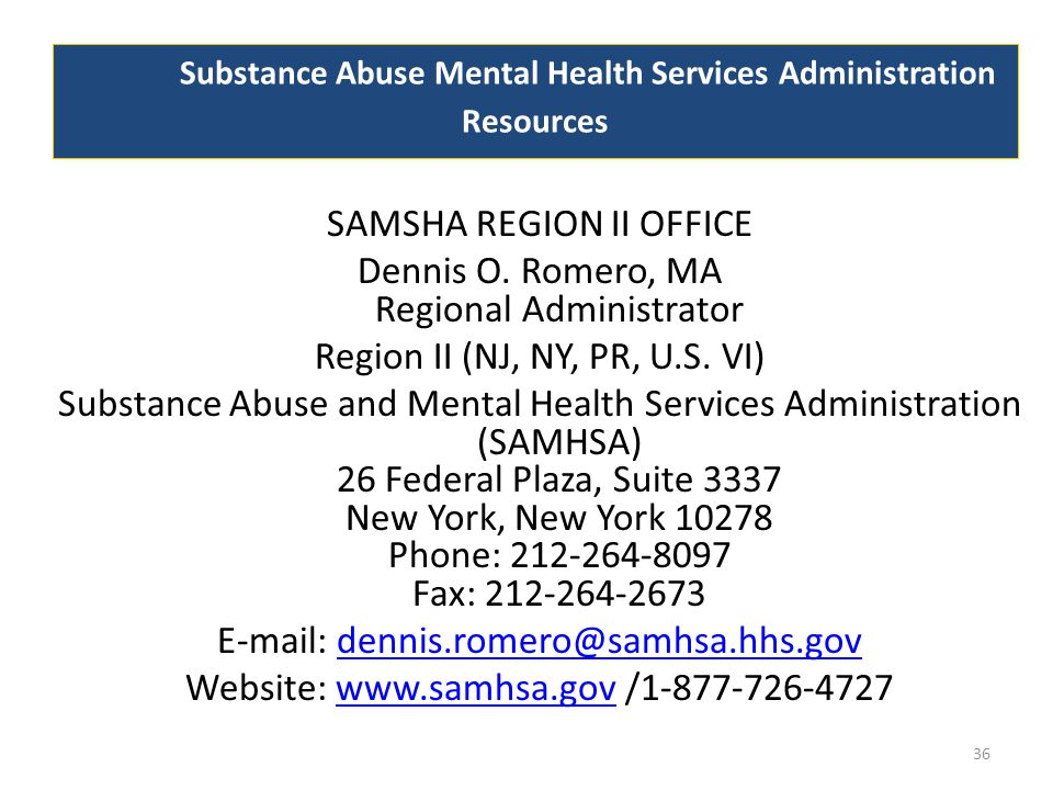Substance Abuse Mental Health Services Administration Resources