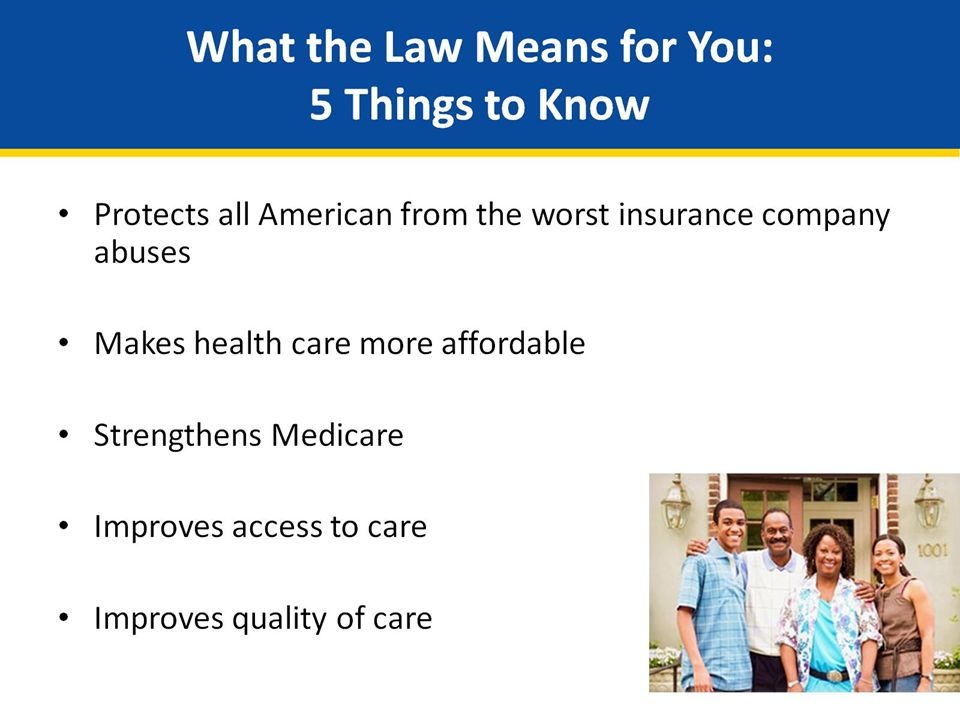What the Law Means for You: 5 Things to Know