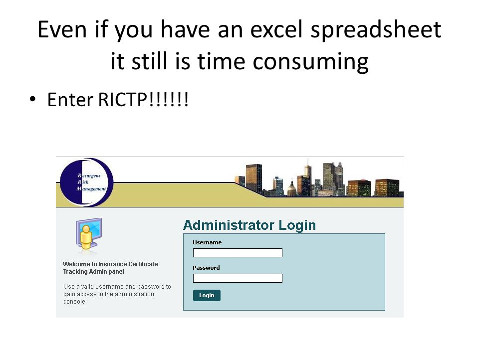 Even if you have an excel spreadsheet it still is time consuming